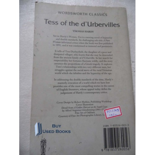 an analysis of the novel tess of the durbervilles If you can't write tess of the d'urbervilles analysis, here is a sample that  discusses one of the questions about the book check it right now.